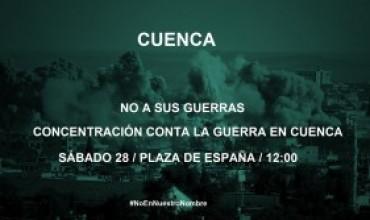 #YoVoy28N para decir bien alto que #NoEnNuestroNombre. Nuestros muertos, sus guerras.