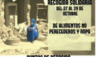 URGENTE #SOSSAHARA : Recogida de mantas y alimentos no perecederos.