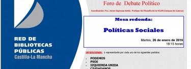 Taller de pensamiento: Políticas sociales