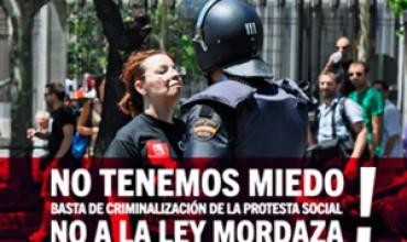 Izquierda Unida de Cuenca en apoyo a la compañera Raquel, contra la represión y la Ley Mordaza.