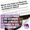 ¡Ha muerto porque la han asesinado! Ya van 14 asesinatos de mujeres cometidos por hombres en 2016. STOP Feminicidio