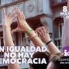 """Manifiesto de Izquierda Unida con motivo del 8 de marzo """"sin igualdad no hay democracia"""""""