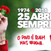 42 aniversario de la 'Revolución de los Claveles'. 25 de abril siempre, unidad popular para vencer.