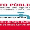 IU celebra un acto público sobre la gestión del agua en Cuenca