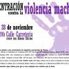 Concentración contra la Violencia Machista lunes 28 a las 20h c/Carretería