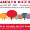 Asamblea local abierta de Izquierda Unida – 26 de diciembre.