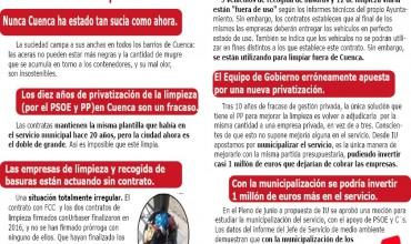 CAMPAÑA IU apuesta por la MUNICIPALIZACIÓN del SERVICIOS DE LIMPIEZA.
