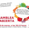 ASAMBLEA LOCAL ABIERTA DE IZQUIERDA UNIDA: 6 DE MARZO – 20.15h – SEDE IU