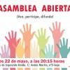 Asamblea IU: lunes 22 de mayo a las 20.15h.