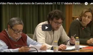 Vídeo del Pleno ordinario de diciembre sobre el debate del parking de Astrana Marín