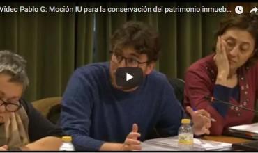 Vídeo intervención Pablo García: Moción IU para la conservación del patrimonio inmueble en el centro de Cuenca-Pleno 07.02.18