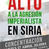 Alto a la agresión imperialista en Siria