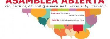 Asamblea abierta IU: lunes 9 a las 20.15h