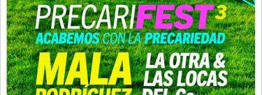 ¡Ya está listo el #Precarifest3IU, este año con un cartel todo mujeres!
