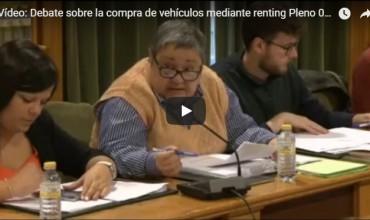 Vídeo: Debate sobre la compra de vehículos mediante renting Pleno 08.05.18 – Ana Sanchez