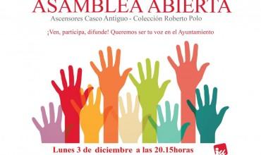 ASAMBLEALOCALABIERTADE IZQUIERDA UNIDA: 3 DE DICIEMBRE DE 2018