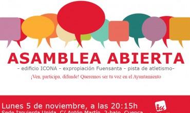 Asamblea abierta Izquierda Unida Cuenca.
