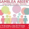 Asamblea abierta de Izquierda Unida: lunes 14 de enero.