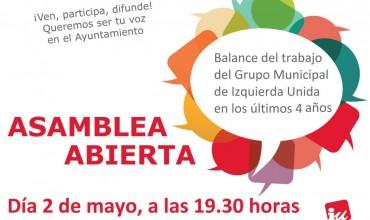 Asamblea balance del trabajo del Grupo Municipal en los últimos 4 años.