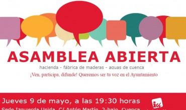 Asamblea abierta Izquierda Unida: jueves 9 a las 19.30h