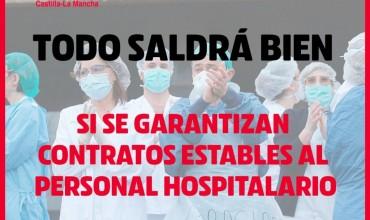 IU propone que los 4.255 sanitarios contratados en C-LM tengan garantizado el empleo un mínimo de 6 meses