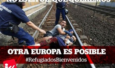 IU-CLM apoya las convocatorias contra el acuerdo de la UE sobre refugiados.