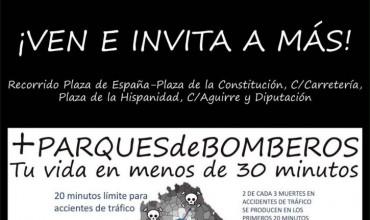 IU no faltará el jueves a las 10.30h en la manifestación convocada por los bomberos del Ayuntamiento y Diputación, para exigir #MásParquesDeBomberos