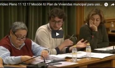 Vídeo Moción IU para el mantenimiento de las viviendas y locales municipales para usos sociales – Pablo García.