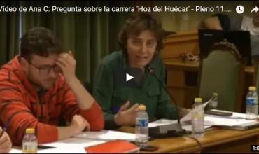 Vídeo de Ana C: Pregunta sobre la carrera 'Hoz del Huécar' – Pleno 11.04.18
