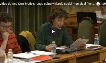 ? Vídeo de Ana Cruz Muñoz: ruego sobre vivienda social municipal Pleno 11.04.18