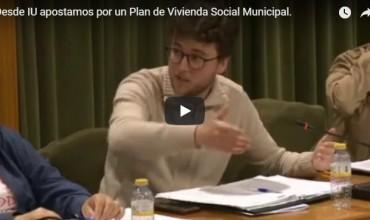 Desde IU apostamos por un Plan de Vivienda Social Municipal.