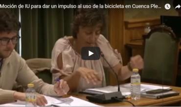 Moción de IU para dar un impulso al uso de la bicicleta en Cuenca.
