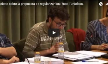 Debate sobre la propuesta de regularizar los Pisos Turísticos.