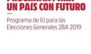 Programa IU para las Elecciones Generales 28A.