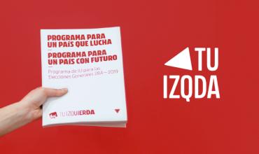 Programa electoral de IU para las elecciones generales del 28A