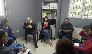 El candidato de Izquierda Unida-PCAS, Pablo García, se reúne con la Asociación de Vecinos de los Tiradores Altos
