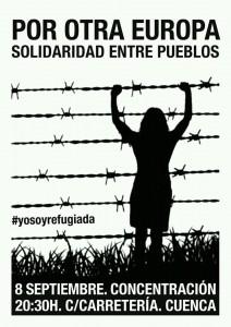 Cartel concentración refugiad@s