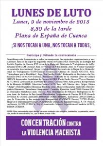 Cartel Convocatoria Lunes de luto 09/11/15